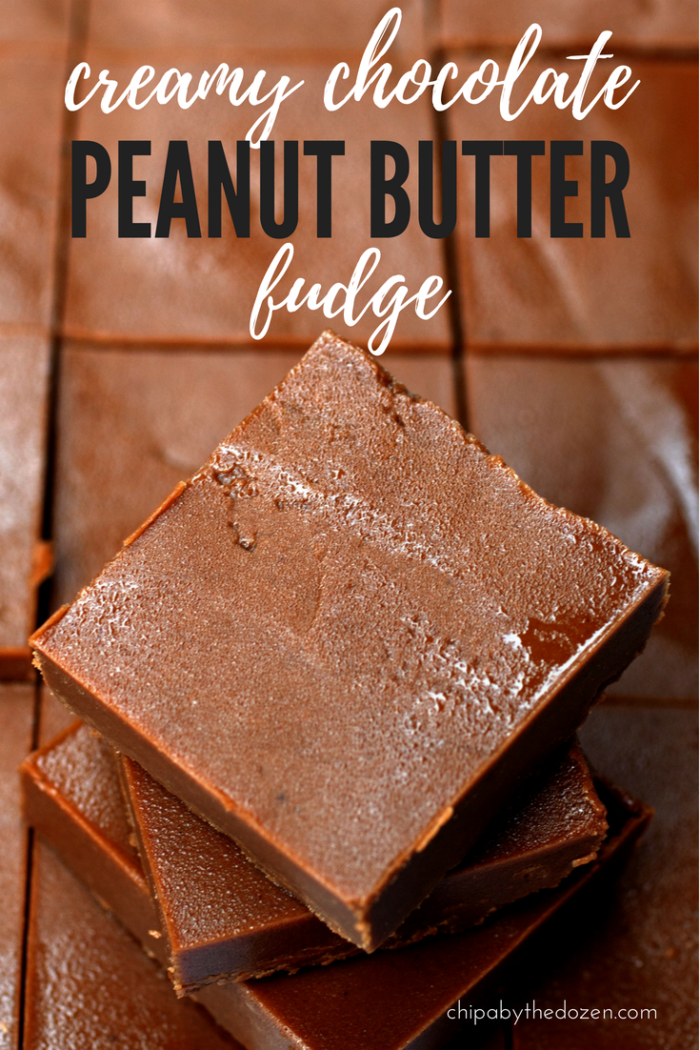 Creamy Chocolate Peanut Butter Fudge