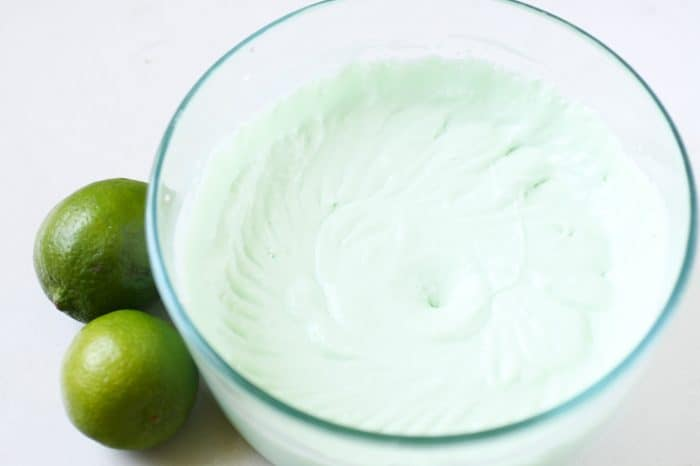 key lime pie filling in a bowl