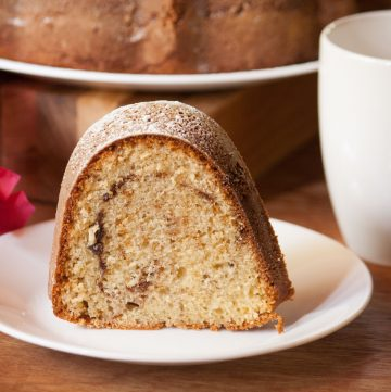 Moist Cinnamon Swirl Coffee Cake