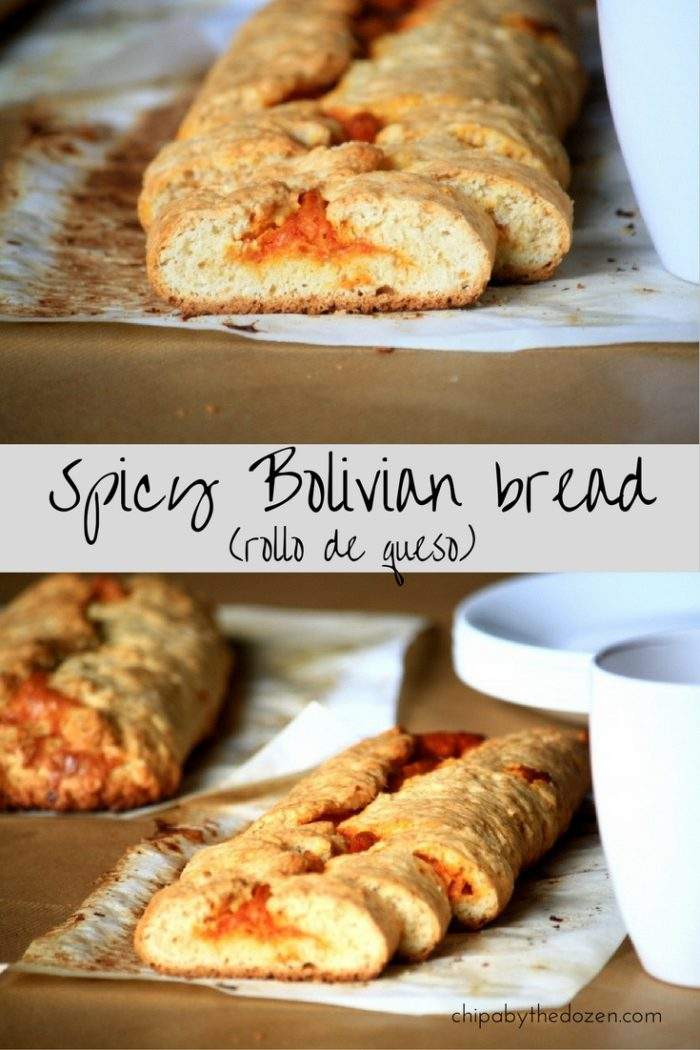 Spicy Bolivian bread (rollo de queso)
