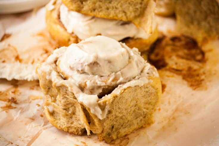 Fluffy Pumpkin Cinnamon Rolls
