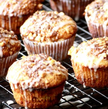 Nutty and moist coffeecake muffins