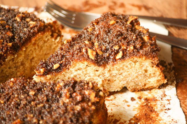 slice of Brown Butter Banana Coffeecake
