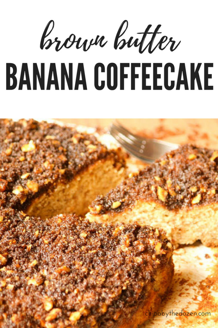 Brown Butter Banana Coffeecake