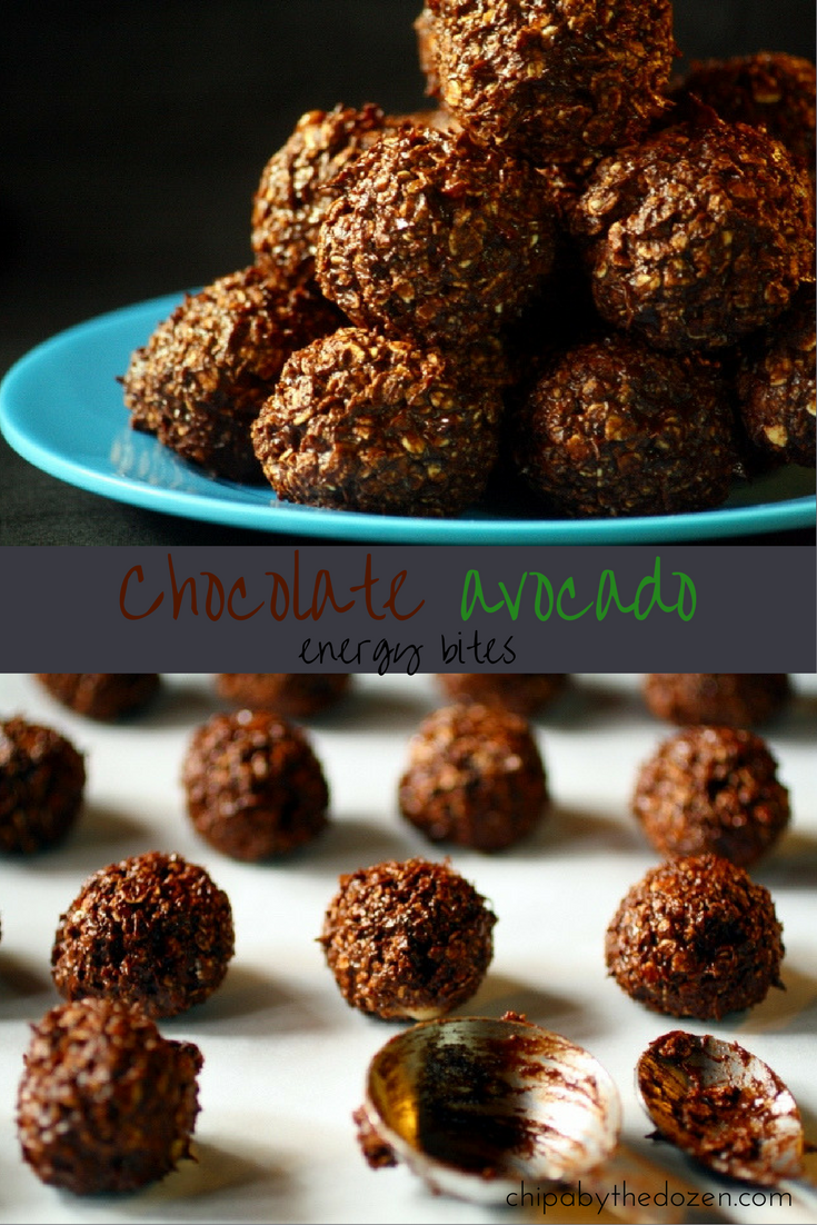 Chocolate avocado energy bites