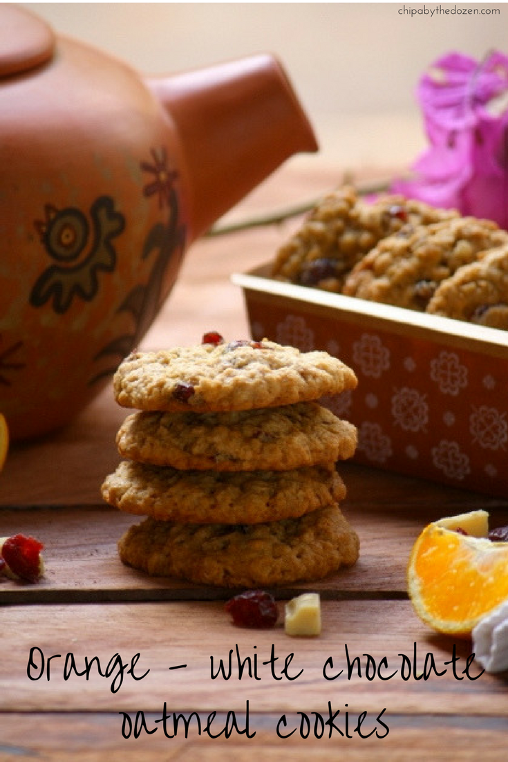 Orange-White chocolate oatmeal cookies