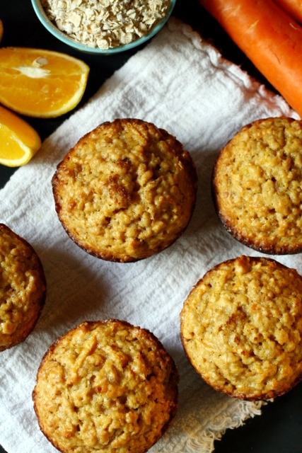 Carrot oatmeal muffins