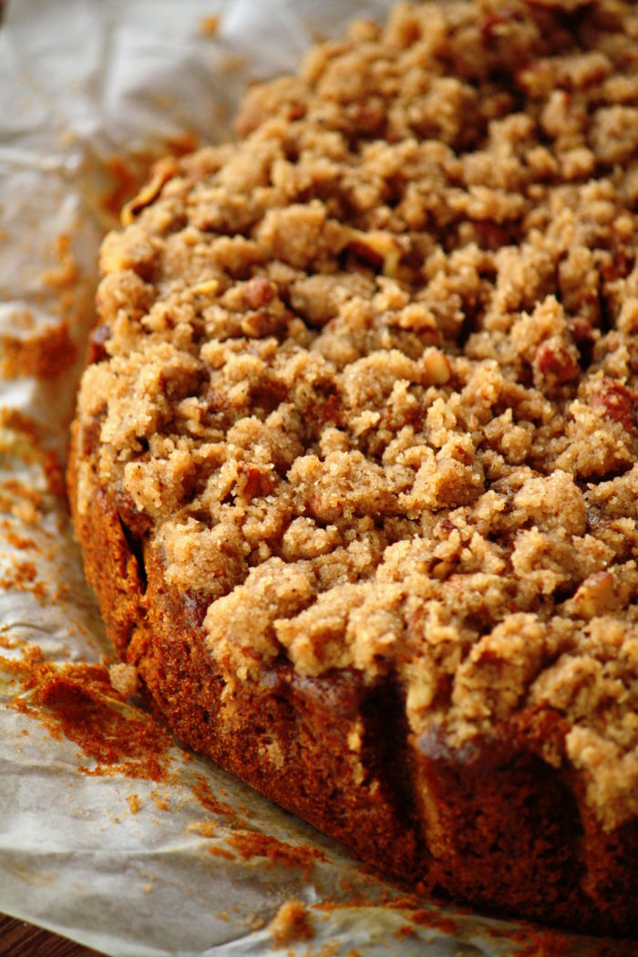 Brown butter pumpkin coffeecake