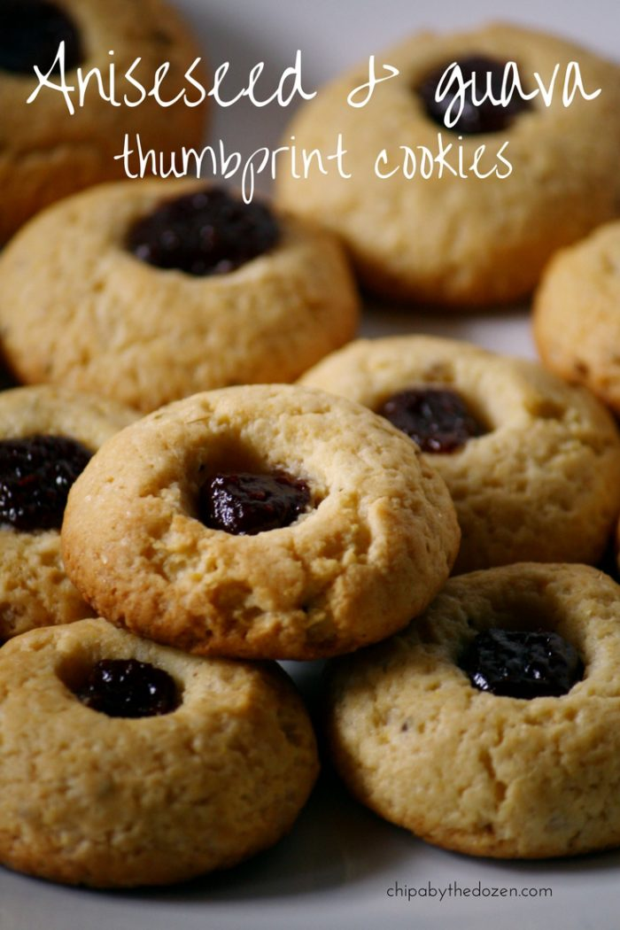 Anise & guava thumbprint cookies paraguay