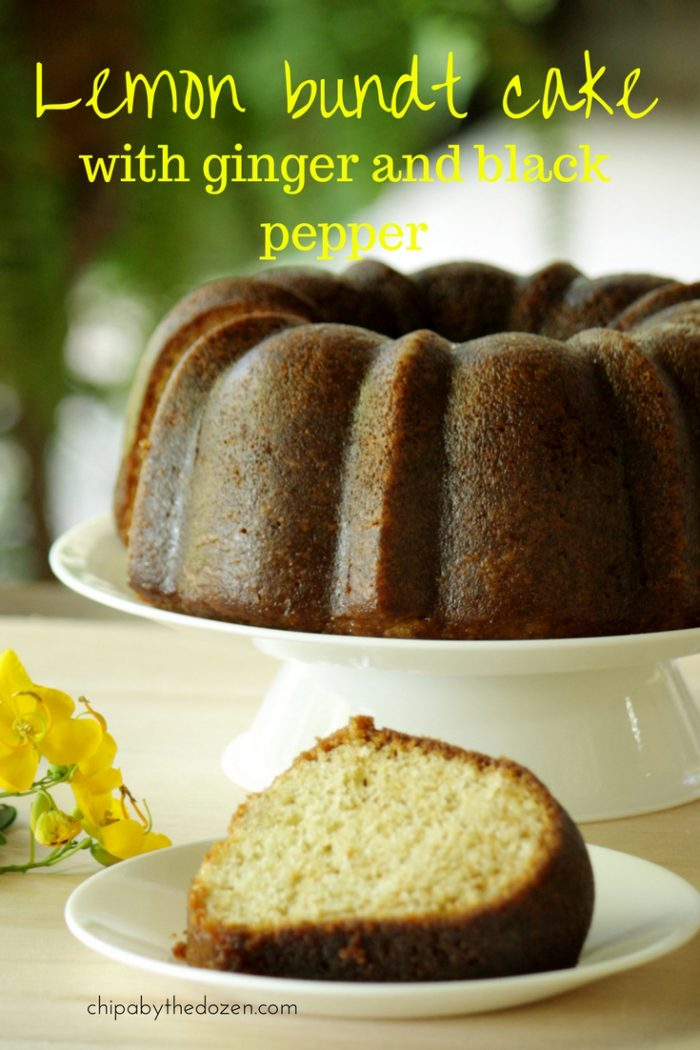 Lemon bundt cake with ginger and black pepper