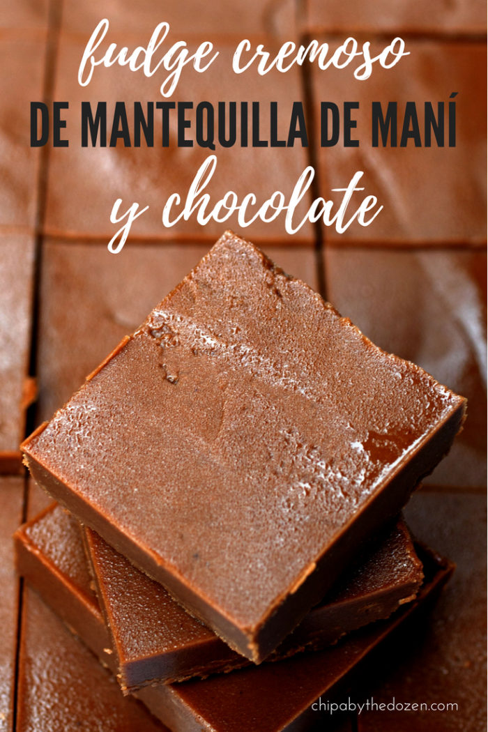 Fudge Cremoso de Mantequilla de Maní y Chocolate