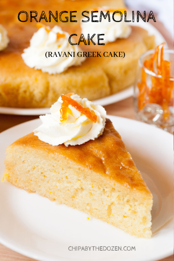 Orange Semolina Cake (Ravani Greek Cake)