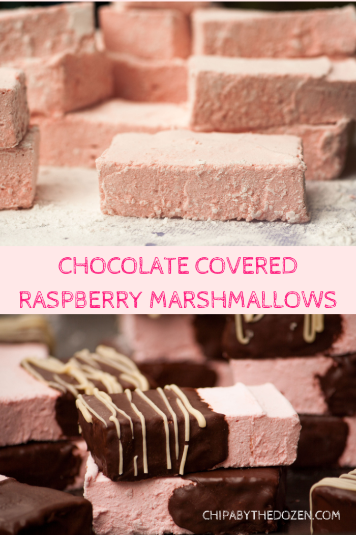 Chocolate Covered Raspberry Marshmallows