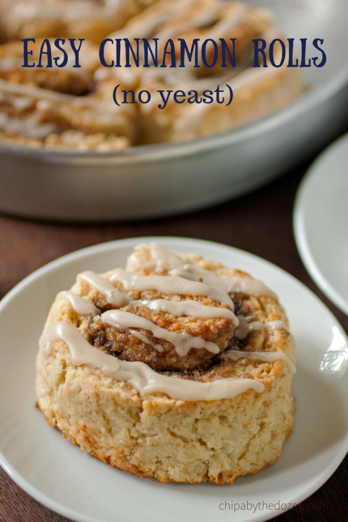 Easy Cinnamon Rolls (No Yeast)