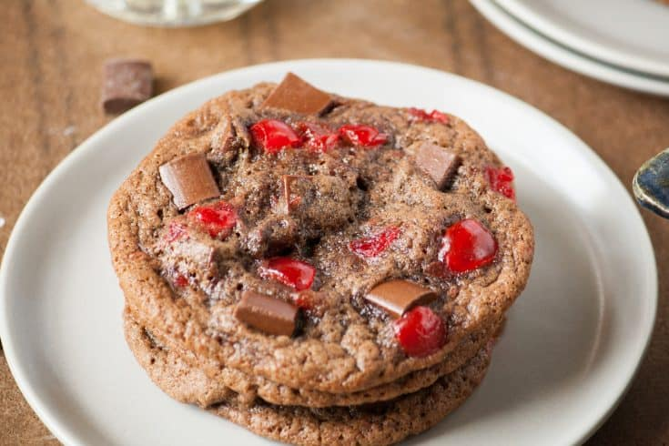 Chewy Double Chocolate Cherry Cookies