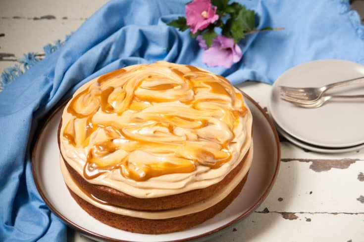 Banana Cake with Dulce de Leche Frosting