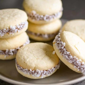 alfajores (cookies) on a plate