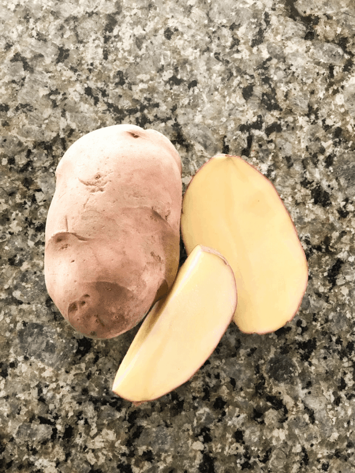 Bolivian potatoes on counter