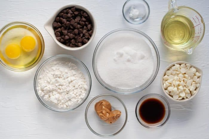 ingredientes para bocaditos de brownie