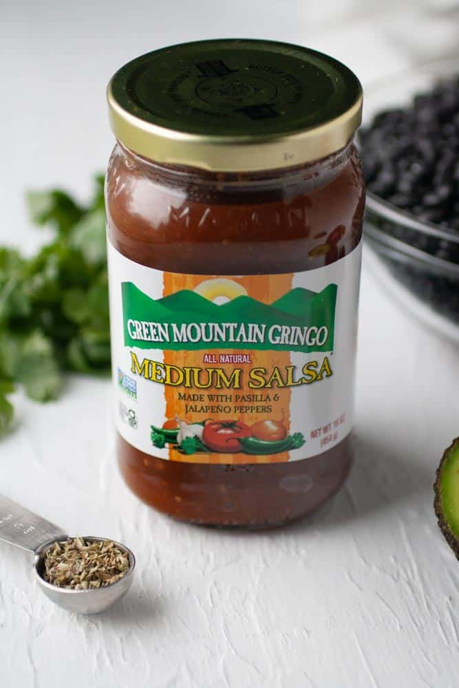 jar of Green mountain gringo salsa