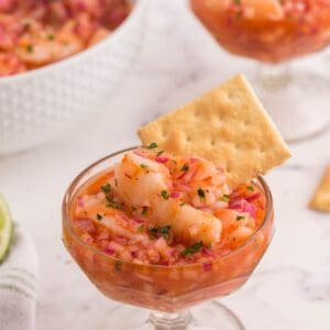small cup with ceviche